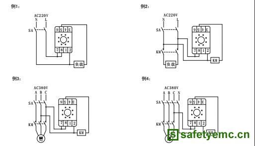经延时到预置值时,负载或km(交流接触器)失电或断开.