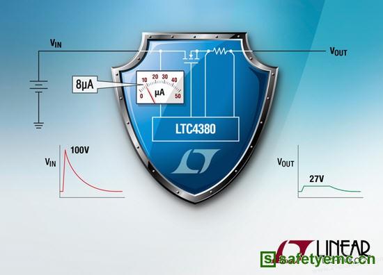 凌力尔特推出8µA IQ 浪涌抑制器保护电子系统