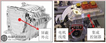 (a)电机本体 (b)电机及集成控制器