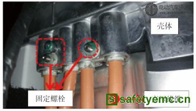(a)线缆屏蔽层和壳体端接