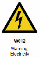 """正确使用GB 7000.1-2015规定的""""触电危险""""警告符号"""