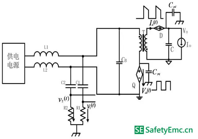 工作模式Ⅰ在有LISN 时的等效受控源电路