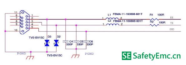 rs232接口emc设计标准电路_安规与电磁兼容网