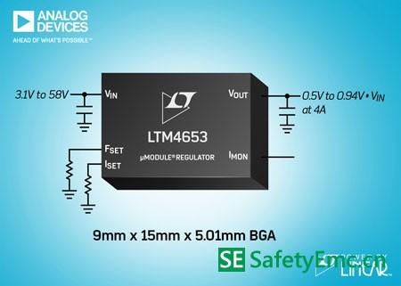 ADI 宣布推出符合EN 55022B规格的降压型 µModule稳压器 LTM4653