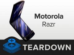 透过拆解摩托罗拉纵向折叠屏 Razr 看起内部结构设计
